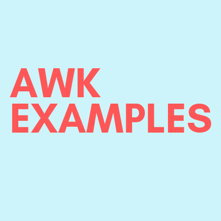 awk with examples